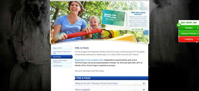 worlds of fun pre-k pass