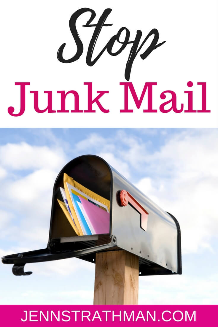 how to stop junk mail in 2 steps jenn strathman. Black Bedroom Furniture Sets. Home Design Ideas