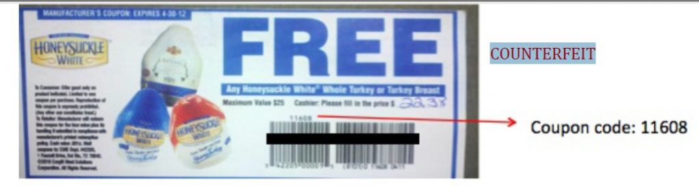 counterfeit turkey coupon