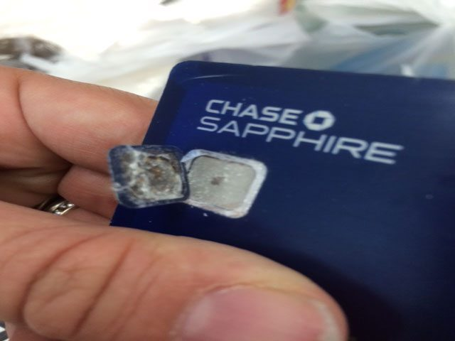 chip card falling apart