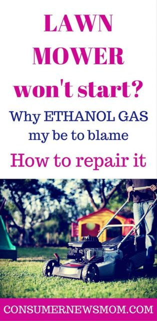lawn mower repair from ethanol gas
