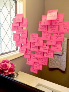 Post-it note Valentine's Day idea