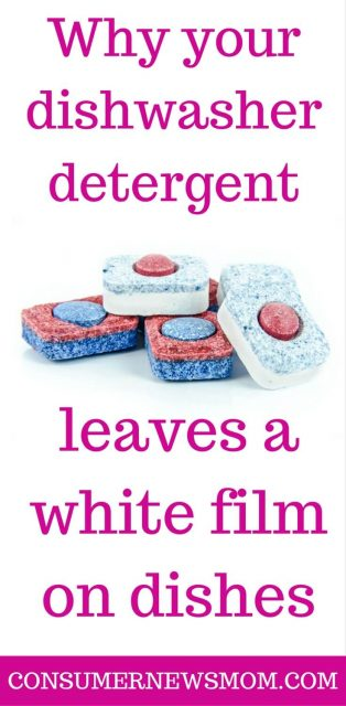 dishwasher detergent white film